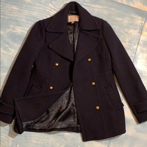 Navy blue very thick pea coat